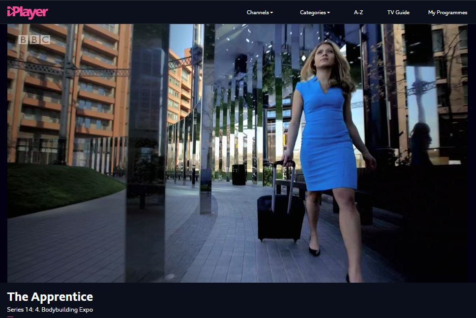 Gasholder Park appears in The Apprentice