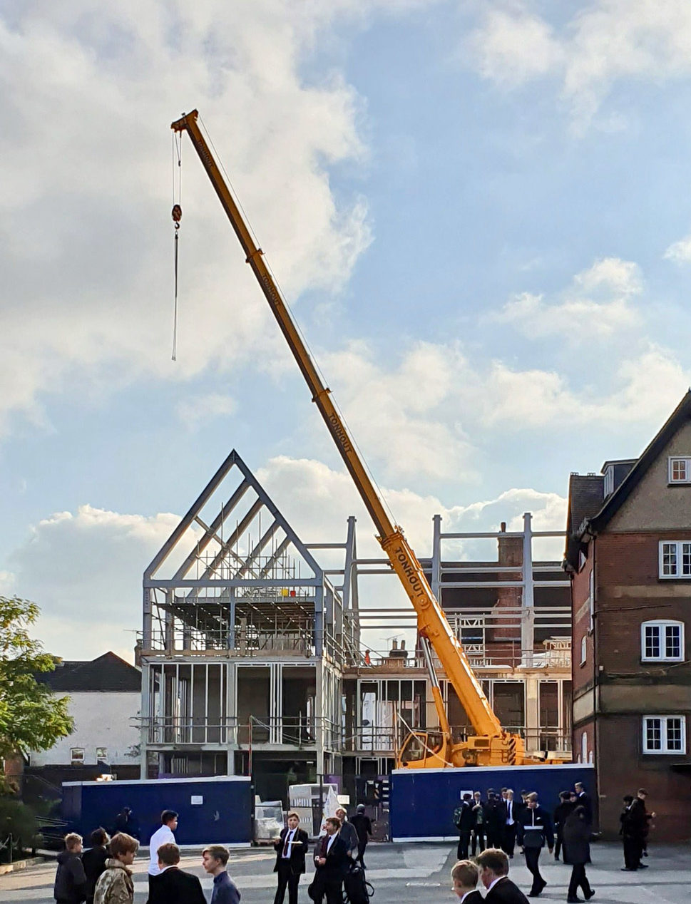 New humanities building at The Skinners School tops out