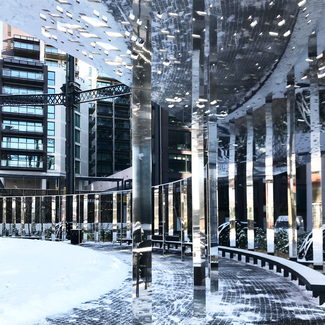 Braving the beast: Gasholder Park in the snow